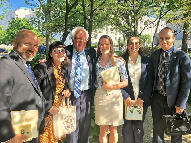 ESA Science Policy Fellows with Bernie Sanders