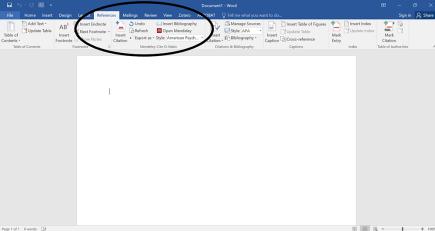 Mendeley in Microsoft Word