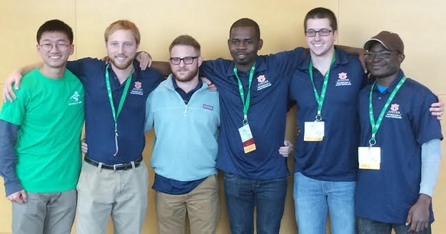 Adekunle Adesanya, Ph.D., with fellow Auburn students