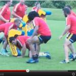 Entrainement Rugby des joueurs du Munster