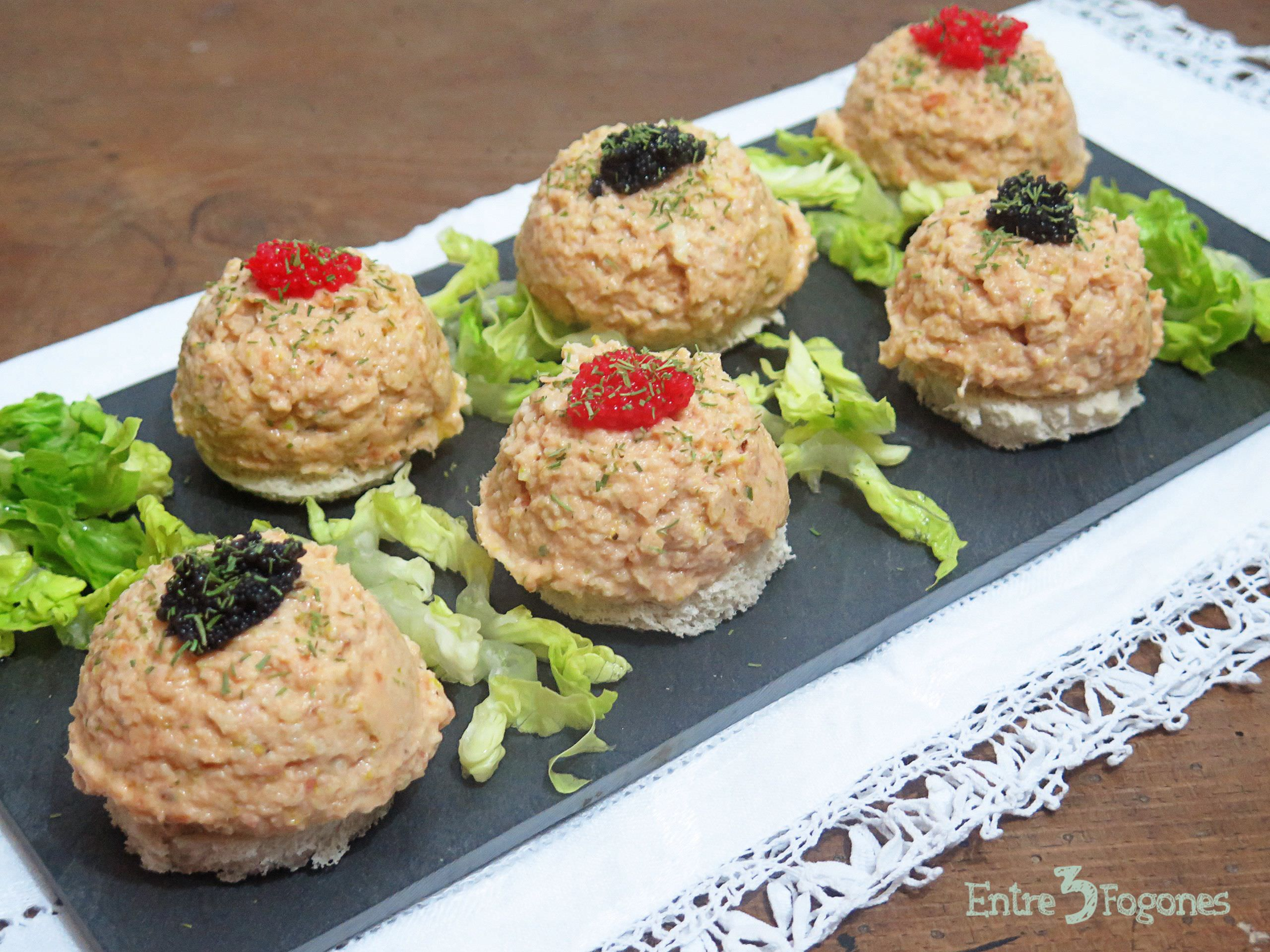 Photo of Canapés de Salmón con Tronco de Brócoli