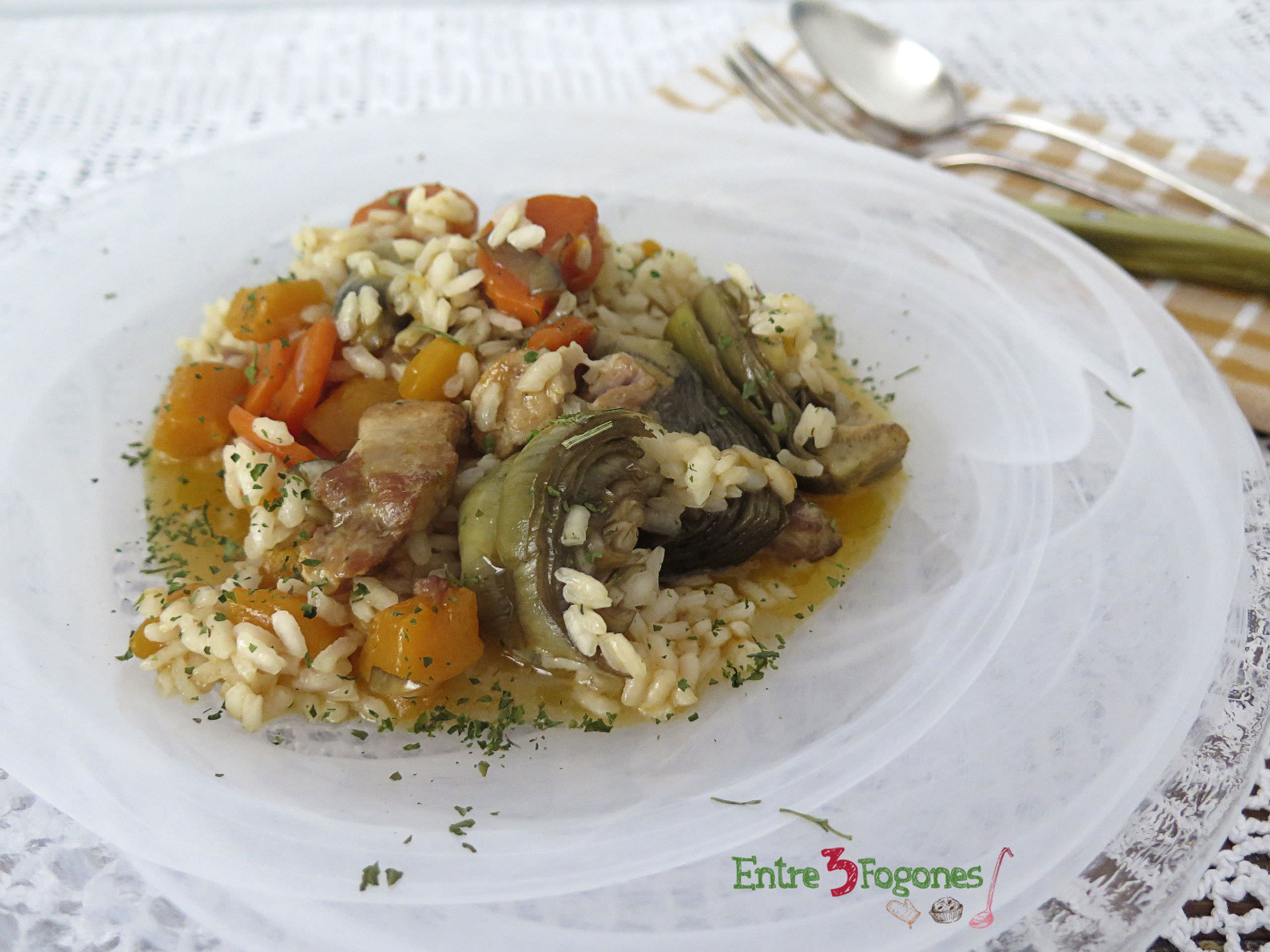 Photo of Arroz Meloso con Calabaza y Panceta Fresca