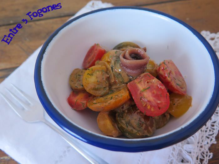 Photo of Ensalada de Tomate Cherry con Anchoas