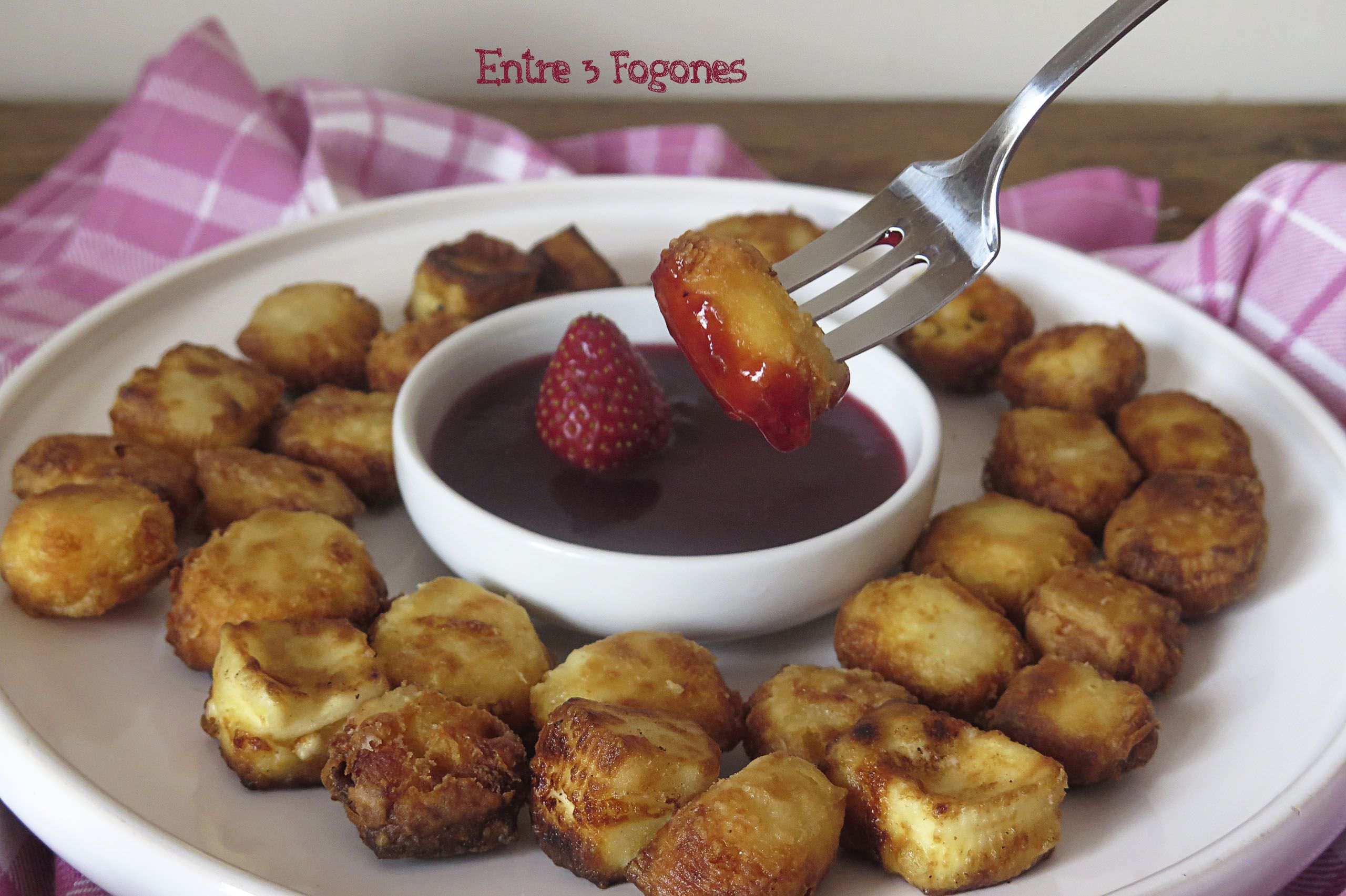 Photo of Queso Frito con Mermelada de Fresas