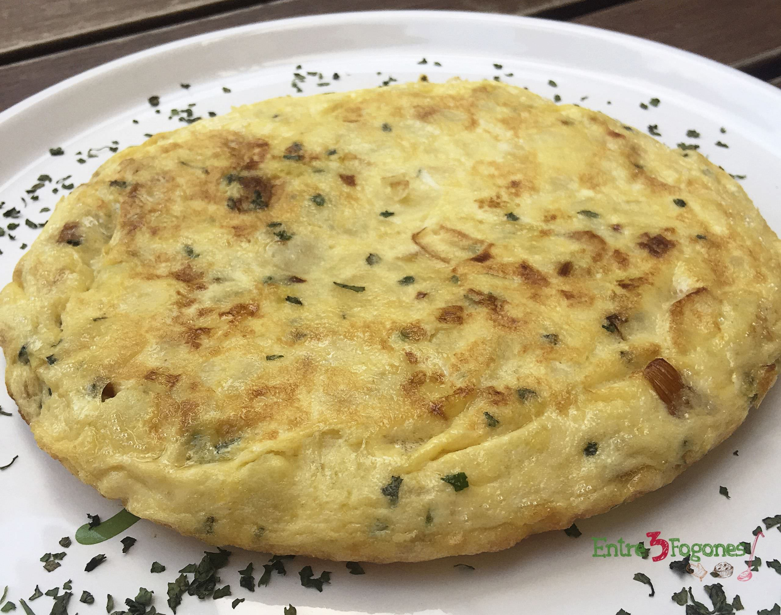 Photo of Tortilla de Patatas con Puerros al Cilantro