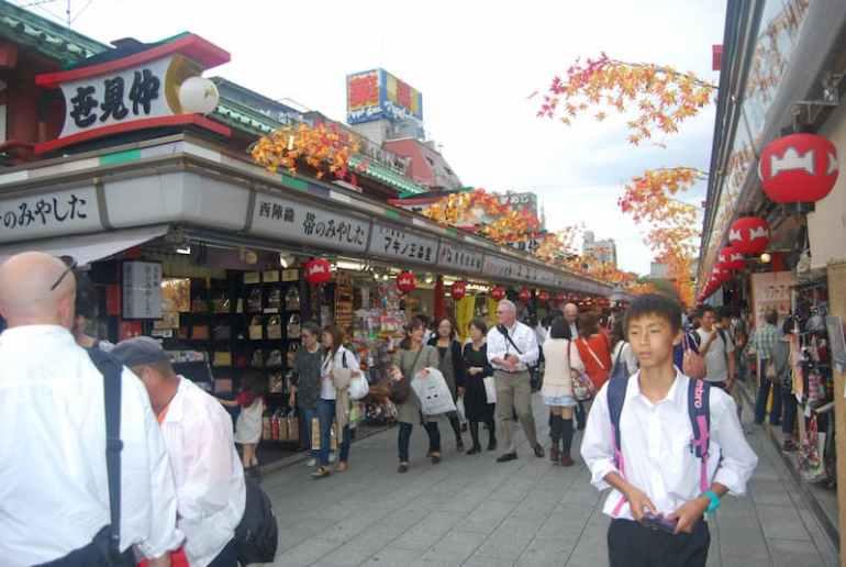 Calle Nakamise-dori en Asakusa