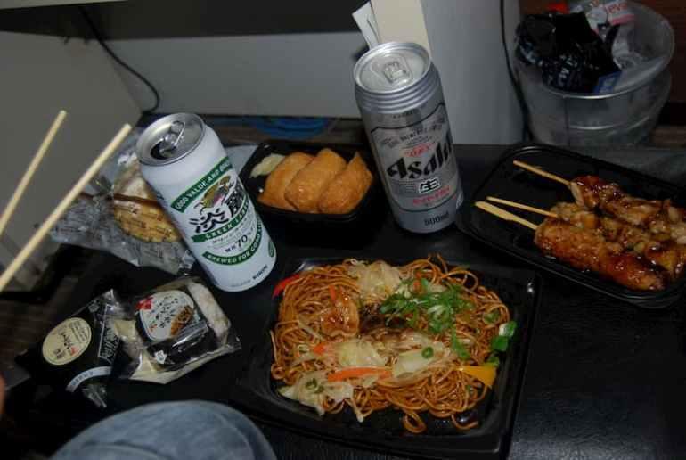 Cena de 7eleven en Japón