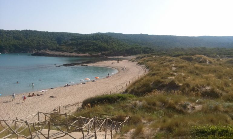 Playa de la Vall, en Menorca