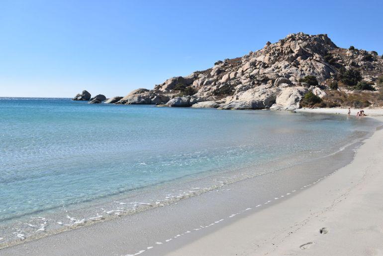 Playa de Mikri Vigla en Naxos