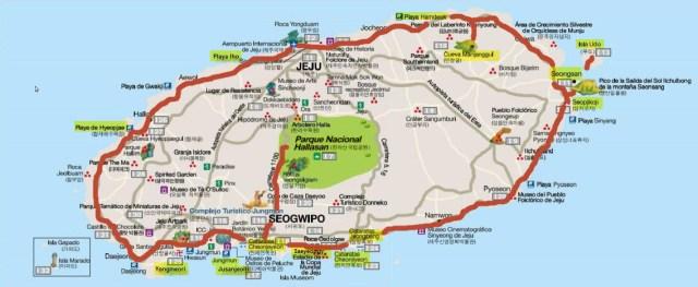 Jeju - Mapa 2