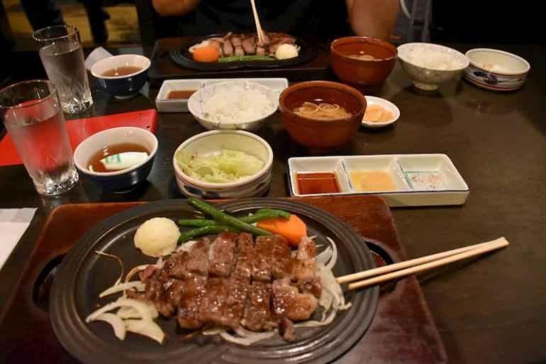 Restaurante de carne de kobe en Tokio