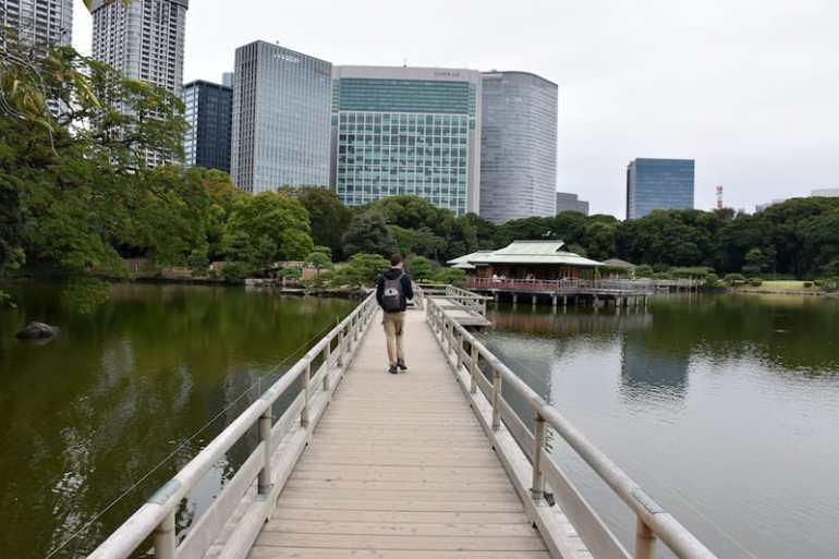 Hama Rikyu Gardens en Tokio