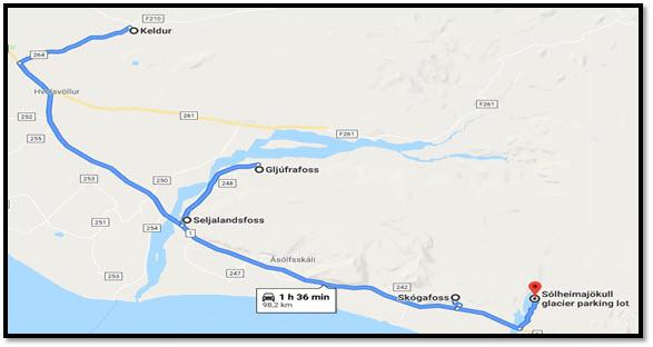 Mapa de nuestra ruta por Islandia en 12 días con niños