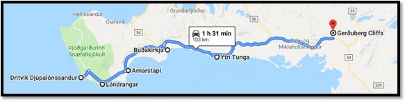 Mapa ruta 12 días por Islandia con niños