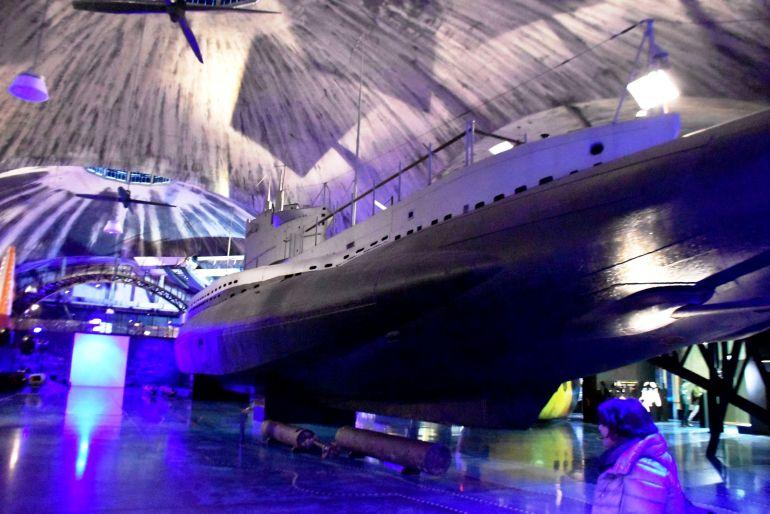 Submarino nuclear en el Museo Marítimo de Tallin