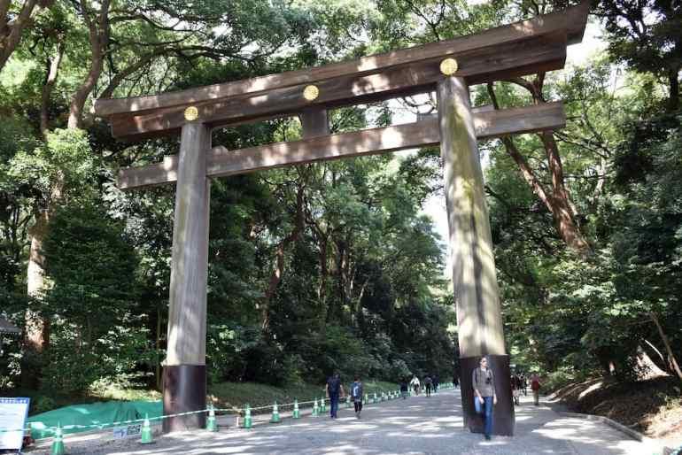 Torii del parque Yoyogui en Harajuku