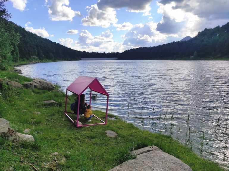 L'Andart en el Lago Engolasters