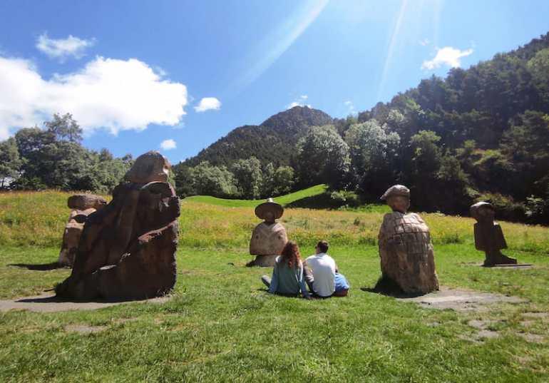 Los Jordino, esculturas en la Ruta del Hierro (Llorts) en Andorra