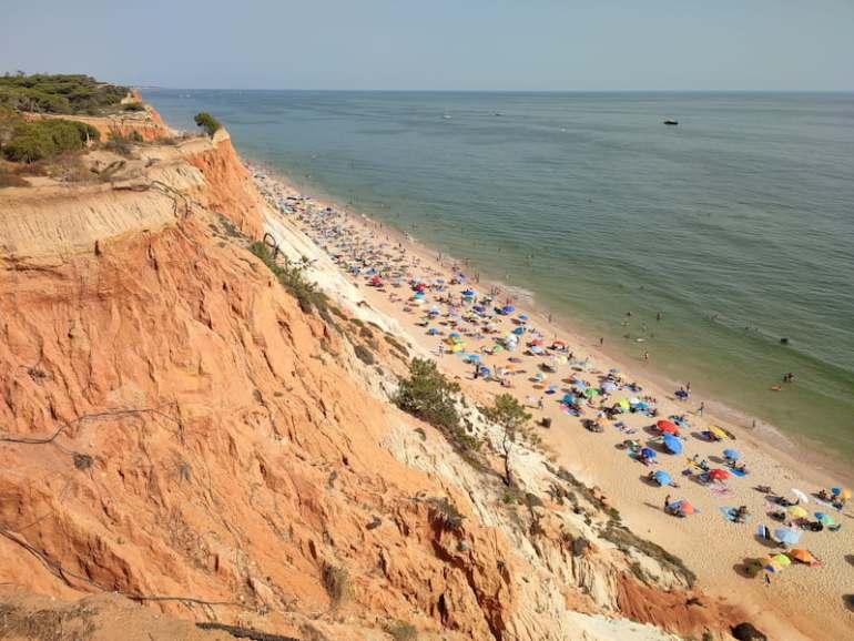 Playa de Falesia en el Algarve