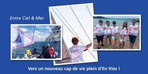 Carte Entre Ciel & Mer rose