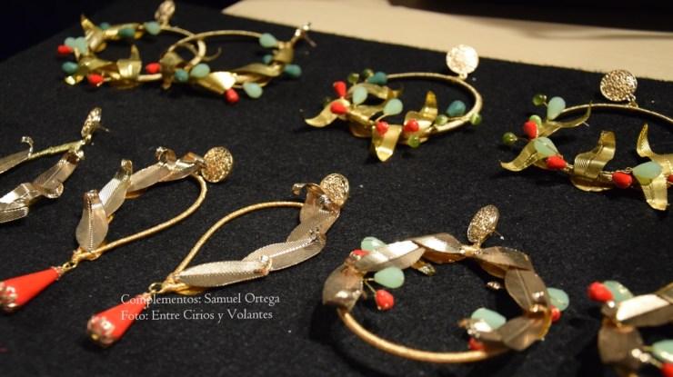 pendientes dorados de flamenca samuel ortega