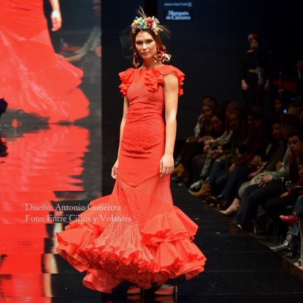 trajes de flamenca rojos antonio gutierrez