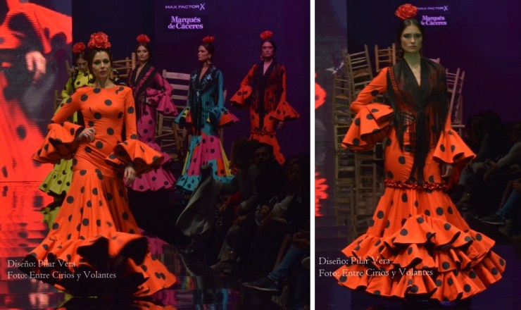 trajes de flamenca rojos pilar vera