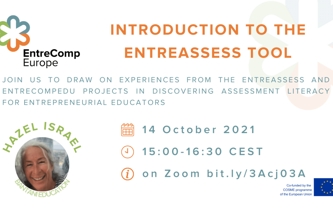 EntreComp Europe Workshop: Introducing the EntreAssess Tool