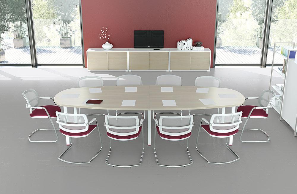table ovale iq 10 personnes erable
