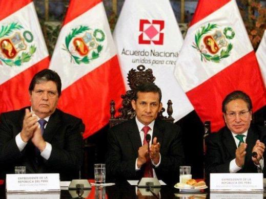 Alan, Ollanta y toledo
