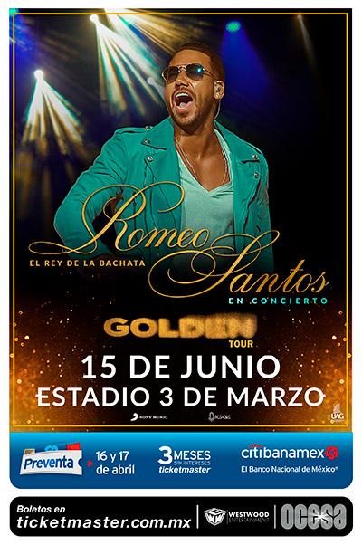 Romeo Santos Estadio 3 de Marzo, Guadalajara
