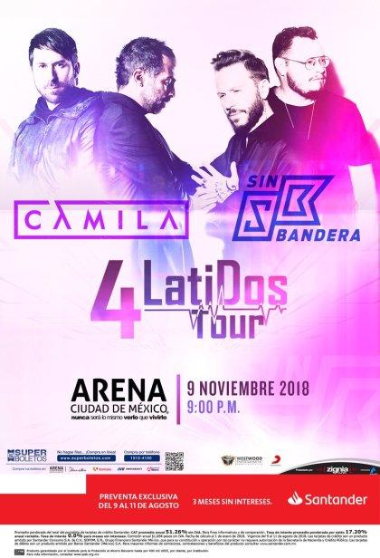 Camila y Sin Bandera Arena Ciudad de Mexico