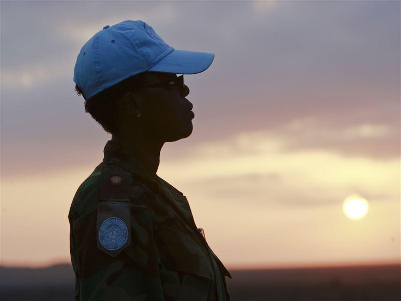 Una casco azul de MINURSO. / UN Photo