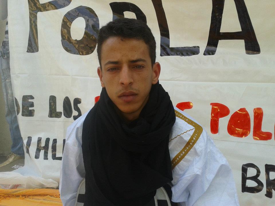 El activista saharaui Kaziza en Madrid . / Blogspot