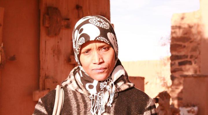 Retrato fotográfico de una mujer marroquí. / Casa Mediterráneo