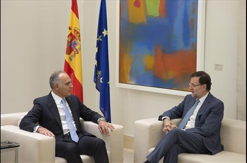 Mariano Rajoy ha recibido esta mañana en La Moncloa al ministro de Asuntos Exteriores y de Cooperación del Reino de Marruecos, Salaheddine Mezouar.