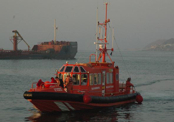 La embarcación Salvamar El Puntal de Ceuta. /S.M