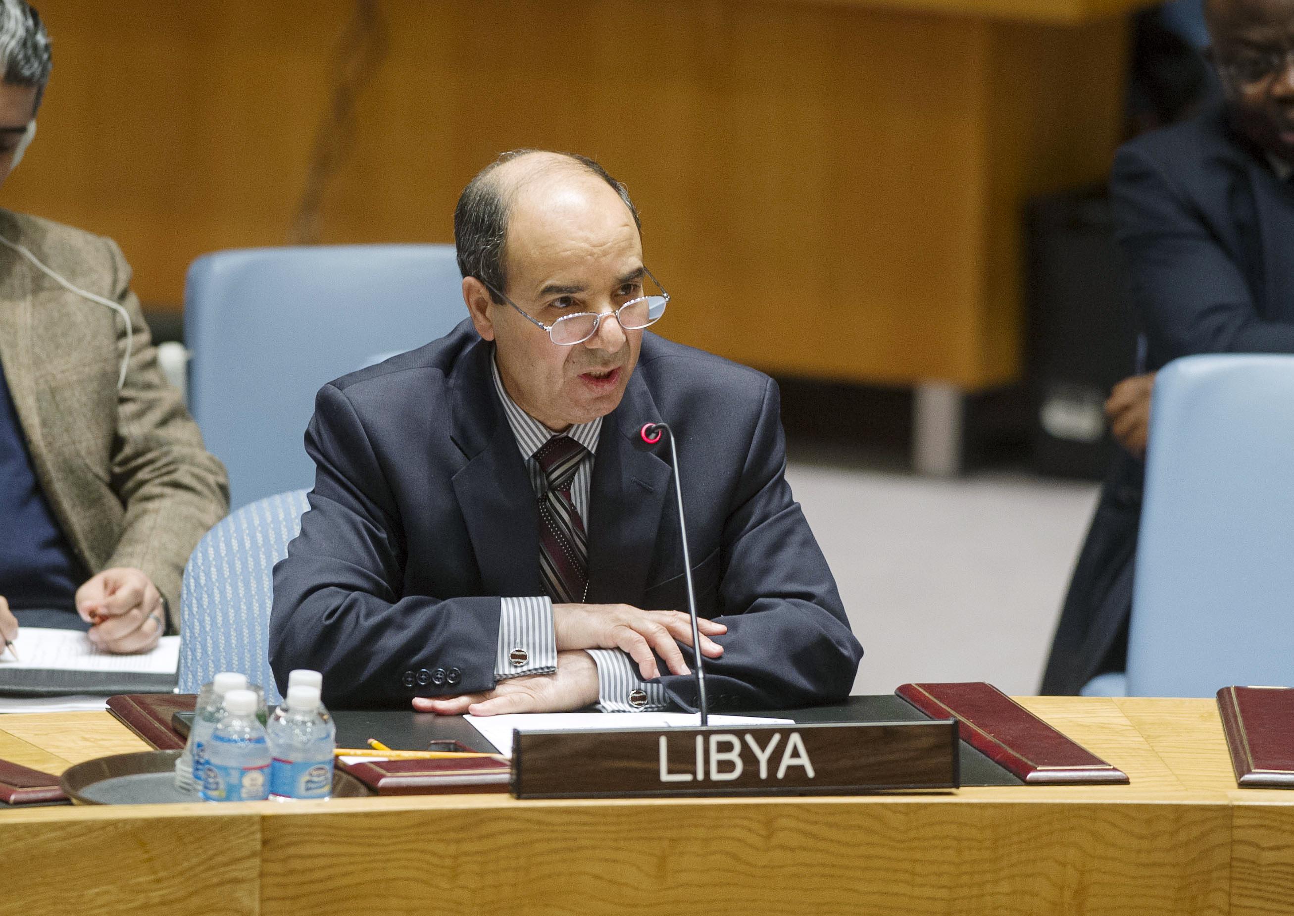 Ibrahim OA Dabbashi, Representante Permanente de Libia ante la ONU. / UN Photo/Amanda Voisard