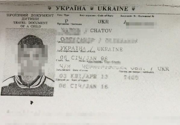 Pasaporte del menor donde se puede comprobar que es menor de edad./ M.G
