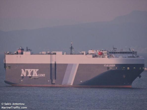 Embarcación Atlas Leader avistada por los migrantes en el estrecho./ Foto Archivo