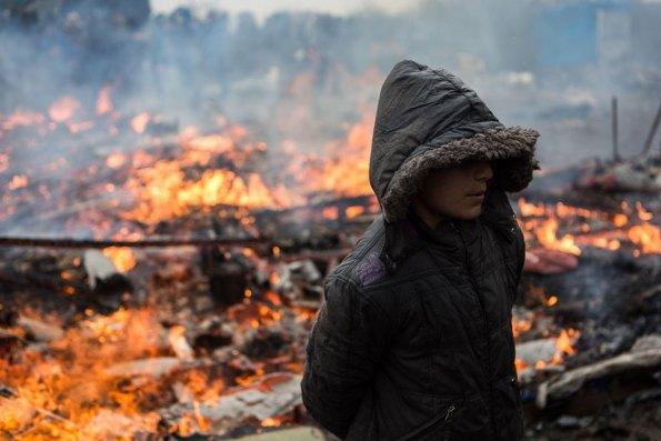 Un menor refugiado durante el desmantelamiento del campamento de Calais. Foto: UNICEF/Laurence Geai
