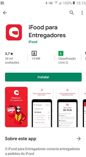 Tela de aplicativo
