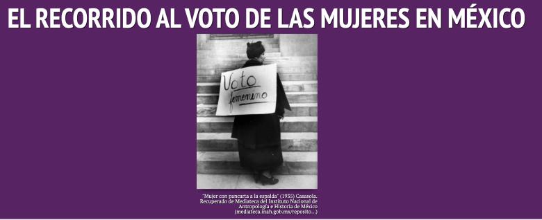 Recorrido al voto mujer en México