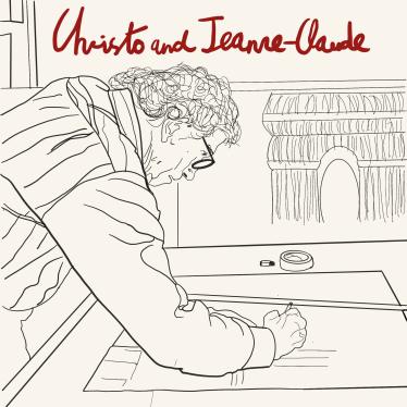Christo, el artista plástico, en su estudio