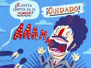 Ilustración sobre los cuestionamientos hacia el humor