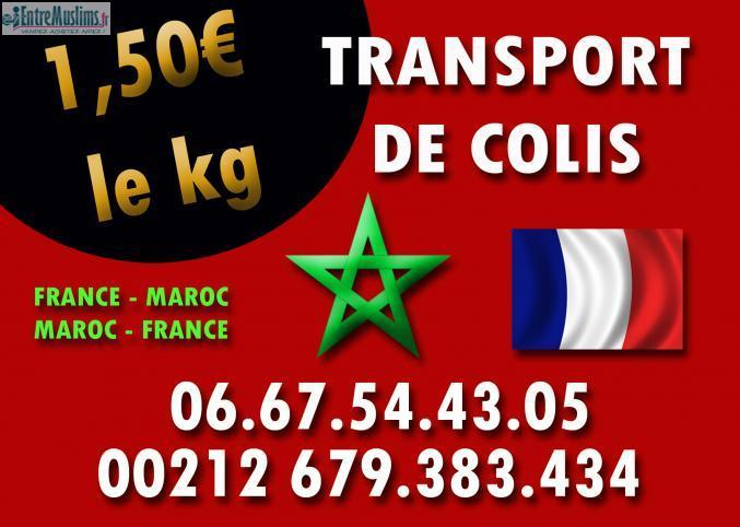 transport de bagage france maroc 1 euros le