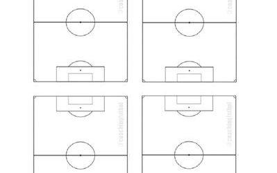 Plantilla de futbol vertical (4 campos)
