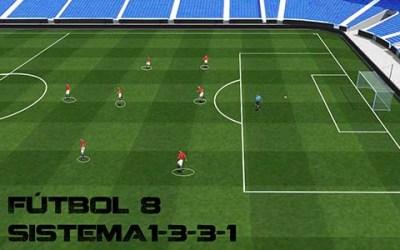 Futbol 8: Sistema 1-3-3-1