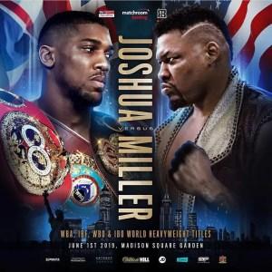 Joshua vs MIller 1 de junio combate