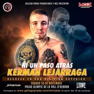 kerman lejagarra anuncia nuevo combate, en barcelona, noviembre